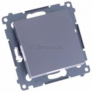Simon 54 DP1A.01/43 - Przycisk zwierny pojedyncze 16A - Srebrny Mat - Podgląd zdjęcia 360st. nr 1