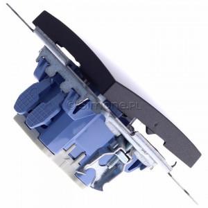 Simon 54 DP1L.01/48 - Przycisk zwierny pojedynczy z podświetleniem typu LED w kolorze niebieskim 10A - Antracyt - Podgląd zdjęcia 360st. nr 3