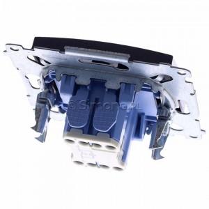 Simon 54 DP1L.01/48 - Przycisk zwierny pojedynczy z podświetleniem typu LED w kolorze niebieskim 10A - Antracyt - Podgląd zdjęcia 360st. nr 4