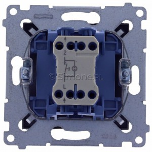 Simon 54 DP1L.01/48 - Przycisk zwierny pojedynczy z podświetleniem typu LED w kolorze niebieskim 10A - Antracyt - Podgląd zdjęcia 360st. nr 9