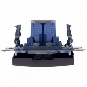 Simon 54 DP1L.01/48 - Przycisk zwierny pojedynczy z podświetleniem typu LED w kolorze niebieskim 10A - Antracyt - Podgląd zdjęcia 360st. nr 8