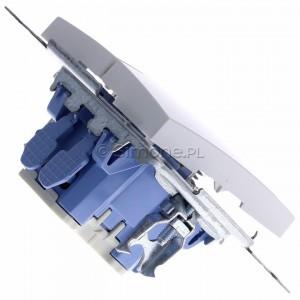 Simon 54 DP2.01/11 - Przycisk zwierny podwójny - Biały - Podgląd zdjęcia 360st. nr 3