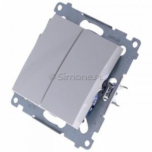 Simon 54 DP2.01/11 - Przycisk zwierny podwójny - Biały - Podgląd zdjęcia 360st. nr 7