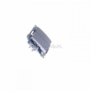 Simon 54 DP2.01/43 - Przycisk zwierny podwójny - Srebrny Mat - Podgląd zdjęcia 360st. nr 2