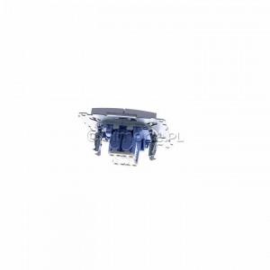 Simon 54 DP2.01/43 - Przycisk zwierny podwójny - Srebrny Mat - Podgląd zdjęcia 360st. nr 4