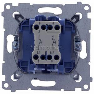 Simon 54 DP2.01/43 - Przycisk zwierny podwójny - Srebrny Mat - Podgląd zdjęcia 360st. nr 9