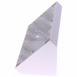 Simon 54 DPNR2/11 - Puszka natynkowa narożna - Biały - Podgląd zdjęcia 360st. nr 6