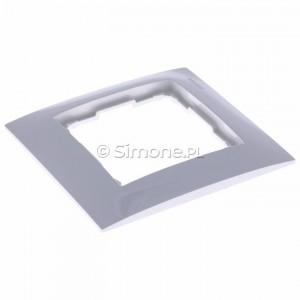 Simon 54 DR1/11 - Ramka pojedyncza - Biały - Podgląd zdjęcia 360st. nr 3