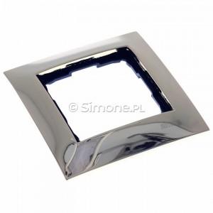 Simon 54 DR1/66 - Ramka pojedyncza wykonana z metalu - Złoto - Podgląd zdjęcia 360st. nr 1