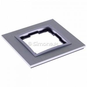 Simon 54 DRN1/77 - Ramka pojedyncza Nature Metal - Inox Klasyczny - Podgląd zdjęcia 360st. nr 3