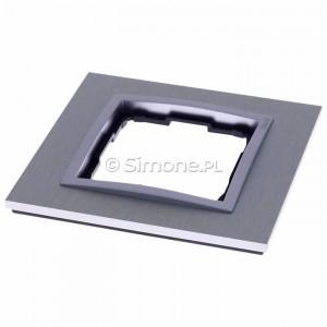 Simon 54 DRN1/77 - Ramka pojedyncza Nature Metal - Inox Klasyczny - Podgląd zdjęcia 360st. nr 2