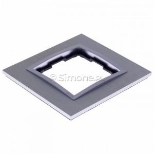 Simon 54 DRN1/77 - Ramka pojedyncza Nature Metal - Inox Klasyczny - Podgląd zdjęcia 360st. nr 7