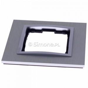 Simon 54 DRN1/77 - Ramka pojedyncza Nature Metal - Inox Klasyczny - Podgląd zdjęcia 360st. nr 6