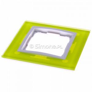 Simon 54 DRN1/90 - Ramka pojedyncza Nature Szkło - Limonkowy Sorbet - Podgląd zdjęcia 360st. nr 2