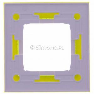 Simon 54 DRN1/90 - Ramka pojedyncza Nature Szkło - Limonkowy Sorbet - Podgląd zdjęcia 360st. nr 9
