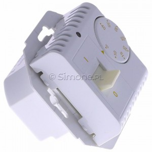Simon 54 DRT10W.02/11 - Regulator temperatury z czujnikiem wewnętrznym - Biały - Podgląd zdjęcia 360st. nr 2