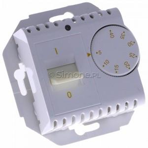 Simon 54 DRT10W.02/11 - Regulator temperatury z czujnikiem wewnętrznym - Biały - Podgląd zdjęcia 360st. nr 1