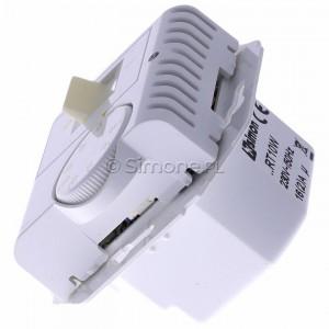 Simon 54 DRT10W.02/11 - Regulator temperatury z czujnikiem wewnętrznym - Biały - Podgląd zdjęcia 360st. nr 6