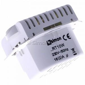 Simon 54 DRT10W.02/11 - Regulator temperatury z czujnikiem wewnętrznym - Biały - Podgląd zdjęcia 360st. nr 5