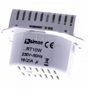 Simon 54 DRT10W.02/11 - Regulator temperatury z czujnikiem wewnętrznym - Biały - Podgląd zdjęcia 360st. nr 4