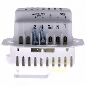 Simon 54 DRT10W.02/11 - Regulator temperatury z czujnikiem wewnętrznym - Biały - Podgląd zdjęcia 360st. nr 8