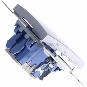 Simon 54 DS1L.01/43 - Przycisk zwierny z symbolem światła i podświetleniem typu LED w kolorze niebieskim 10A - Srebrny Mat - Podgląd zdjęcia 360st. nr 3