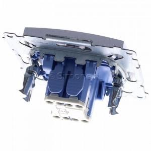 Simon 54 DS1L.01/43 - Przycisk zwierny z symbolem światła i podświetleniem typu LED w kolorze niebieskim 10A - Srebrny Mat - Podgląd zdjęcia 360st. nr 4