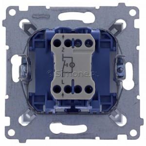 Simon 54 DS1L.01/43 - Przycisk zwierny z symbolem światła i podświetleniem typu LED w kolorze niebieskim 10A - Srebrny Mat - Podgląd zdjęcia 360st. nr 9