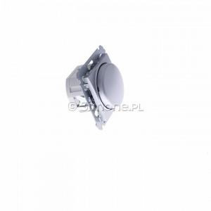 Simon 54 DS9L.01/43 - Ściemniacz naciskowo-obrotowy do LED - Srebrny Mat - Podgląd zdjęcia 360st. nr 2
