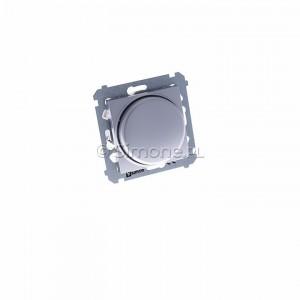 Simon 54 DS9L.01/43 - Ściemniacz naciskowo-obrotowy do LED - Srebrny Mat - Podgląd zdjęcia 360st. nr 1