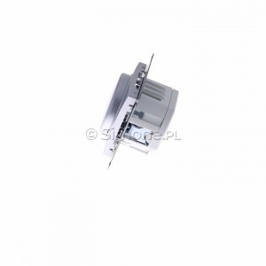 Simon 54 DS9L.01/43 - Ściemniacz naciskowo-obrotowy do LED - Srebrny Mat - Podgląd zdjęcia 360st. nr 6