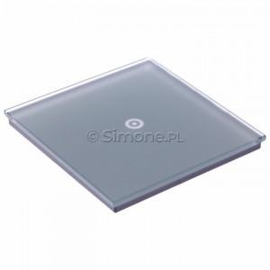 Simon 54 DSTR11/71 - Panel Simon Touch Szkło 1-Modułowy z jednym polem dotykowym, Współpracuje z ST1M lub ST1S - Srebrna Mgła - Podgląd zdjęcia 360st. nr 5