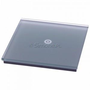 Simon 54 DSTR11/71 - Panel Simon Touch Szkło 1-Modułowy z jednym polem dotykowym, Współpracuje z ST1M lub ST1S - Srebrna Mgła - Podgląd zdjęcia 360st. nr 4