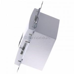 Simon 54 DT2.01/11 - Gniazdo telefoniczne podwójne 2xRJ12 - Biały - Podgląd zdjęcia 360st. nr 6