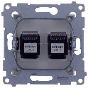 Simon 54 DT2.01/11 - Gniazdo telefoniczne podwójne 2xRJ12 - Biały - Podgląd zdjęcia 360st. nr 9