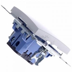 Simon 54 DW1AL.01/11 - Łącznik pojedynczy z podświetleniem typu LED w kolorze niebieskim 16A - Biały - Podgląd zdjęcia 360st. nr 3