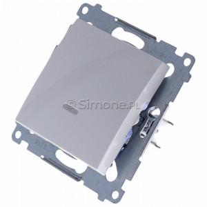 Simon 54 DW1AL.01/11 - Łącznik pojedynczy z podświetleniem typu LED w kolorze niebieskim 16A - Biały - Podgląd zdjęcia 360st. nr 7