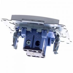 Simon 54 DW1AL.01/11 - Łącznik pojedynczy z podświetleniem typu LED w kolorze niebieskim 16A - Biały - Podgląd zdjęcia 360st. nr 4