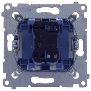 Simon 54 DW1AL.01/11 - Łącznik pojedynczy z podświetleniem typu LED w kolorze niebieskim 16A - Biały - Podgląd zdjęcia 360st. nr 9