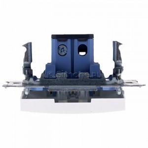 Simon 54 DW1AL.01/11 - Łącznik pojedynczy z podświetleniem typu LED w kolorze niebieskim 16A - Biały - Podgląd zdjęcia 360st. nr 8