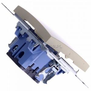 Simon 54 DW1AL.01/41 - Łącznik pojedynczy z podświetleniem typu LED w kolorze niebieskim 16A - Kremowy - Podgląd zdjęcia 360st. nr 3