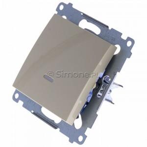 Simon 54 DW1AL.01/41 - Łącznik pojedynczy z podświetleniem typu LED w kolorze niebieskim 16A - Kremowy - Podgląd zdjęcia 360st. nr 7
