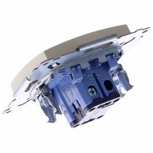 Simon 54 DW1AL.01/41 - Łącznik pojedynczy z podświetleniem typu LED w kolorze niebieskim 16A - Kremowy - Podgląd zdjęcia 360st. nr 5