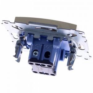 Simon 54 DW1AL.01/41 - Łącznik pojedynczy z podświetleniem typu LED w kolorze niebieskim 16A - Kremowy - Podgląd zdjęcia 360st. nr 4