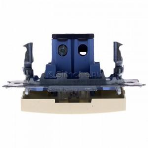 Simon 54 DW1AL.01/41 - Łącznik pojedynczy z podświetleniem typu LED w kolorze niebieskim 16A - Kremowy - Podgląd zdjęcia 360st. nr 8