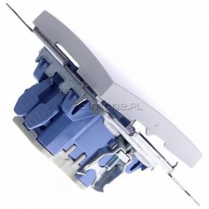 Simon 54 DW1L.01/11 - Łącznik pojedynczy z podświetleniem typu LED w kolorze niebieskim 10A - Biały - Podgląd zdjęcia 360st. nr 3