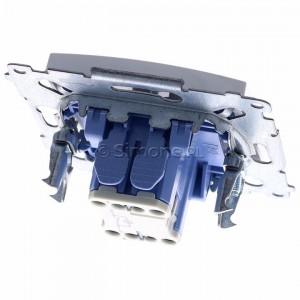 Simon 54 DW1L.01/11 - Łącznik pojedynczy z podświetleniem typu LED w kolorze niebieskim 10A - Biały - Podgląd zdjęcia 360st. nr 4