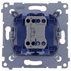 Simon 54 DW1L.01/11 - Łącznik pojedynczy z podświetleniem typu LED w kolorze niebieskim 10A - Biały - Podgląd zdjęcia 360st. nr 9