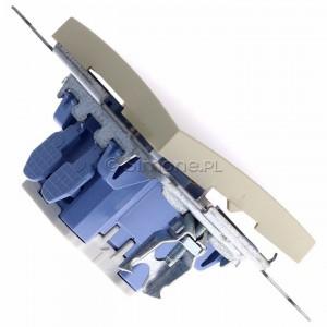 Simon 54 DW1L.01/41 - Łącznik pojedynczy z podświetleniem typu LED w kolorze niebieskim 10A - Kremowy - Podgląd zdjęcia 360st. nr 3