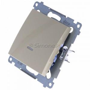 Simon 54 DW1L.01/41 - Łącznik pojedynczy z podświetleniem typu LED w kolorze niebieskim 10A - Kremowy - Podgląd zdjęcia 360st. nr 7